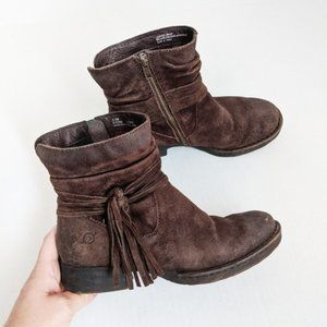 Born Cross Peltro Oiled Suede Distressed Boots 6.5